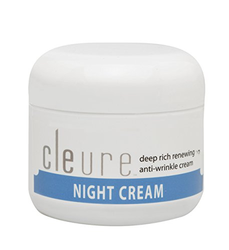 Cleure Anti Wrinkle Night Cream for Sensitive Skin - Non-irritating, Hypoallergenic, Unscented, (2 Oz)