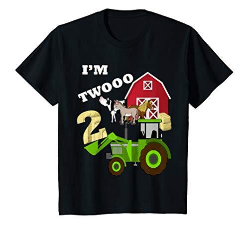 Kids Birthday 2 Im Twooo Tractor Farm Theme Gift T-Shirt