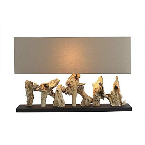 Lámpara de mesa madera: Amazon.es: Iluminación