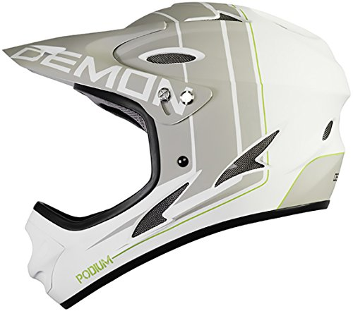 Demon Podium Full Face Mountain Bike Helmet (White, (White Xl Helmet)