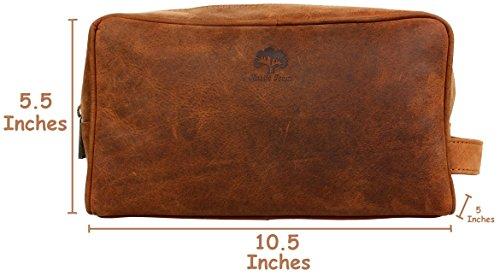 b78dfc0e5b Handmade Buffalo Genuine Leather Toiletry Bag Dopp Kit Shaving and Grooming  Kit for Travel ~ Gift
