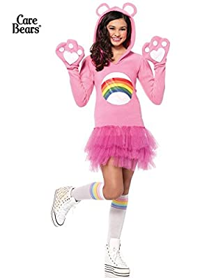 Cheer Bear, Hooded Fleece Dress With Paw Gloves And Tail