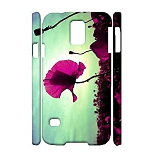Samsung Galaxy S5 I9600 Protector Back Case,Beautiful Elegant Flowers Design Shell 3D Protective Case for Samsung Galaxy S5 I9600 Phone Case