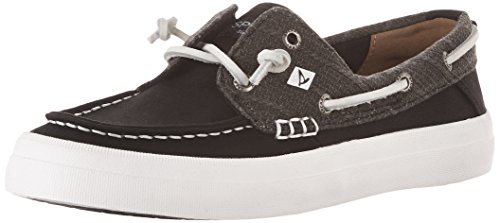 Sperry Top-Sider Womens Crest Resort Linen Black Boat Shoe 5.5 Women US