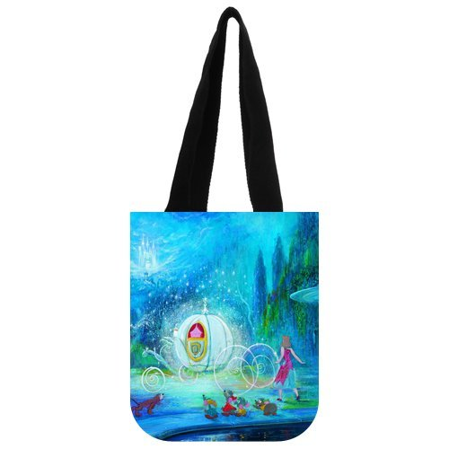 "Fantasy Crystal Pumpkin Car Carrying Shopping Grocery Tote Bag Multi Purpose Durable Material Handbag Bag 10.2"" x 11.8"" x 5.3"" Twin Sides"