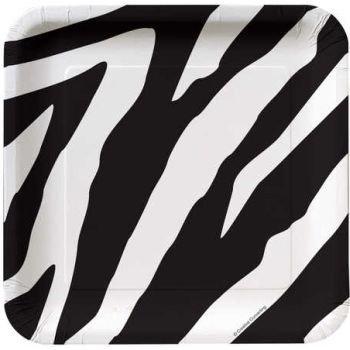 Zebra Animal Print Dessert Plates (8ct)