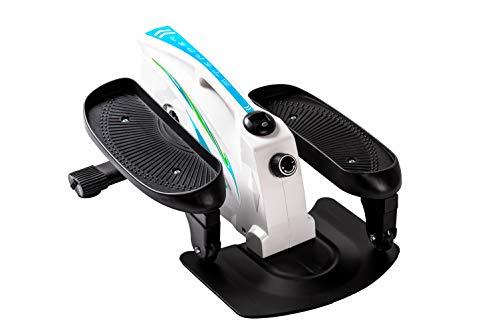 Under Desk Elliptical Exercise Trainer - Compact Elliptical for Home or Office -Desk Stepper with Adjustable Resistance - Seated Desk Elliptical