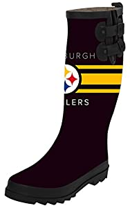 TA-TA FROG Pittsburgh Steelers Women's Waterproof Tall Rainboots