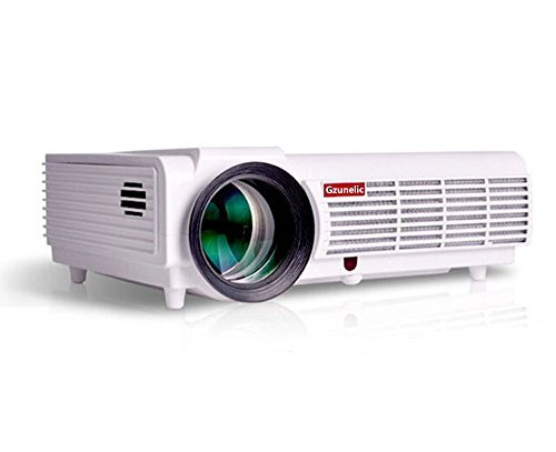 Gzunelic 4200 lumens 1080p LED Video Projector Full HD homeTheater Proyector Native 1280x800 with 2 HDMI 2 USB VGA AV Multiple interfaces Support Ceiling Mount Projection Ideal for Home Entertainment