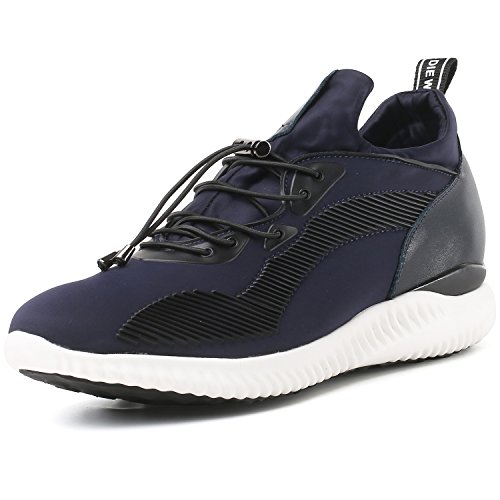 CHAMARIPA Men's Height Increasing Light Weight Casual Sport Shoes 2.76 inches H71C62V013D Blue US8