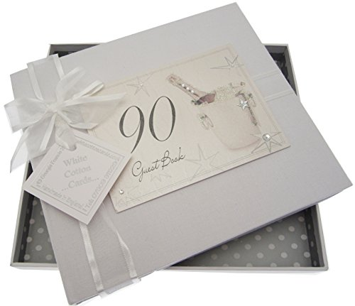 Guest Book Champagne - WHITE COTTON CARDS 90th Birthday, Guest Book, Champagne Bucket