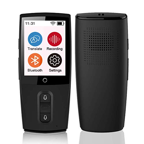 TRANSLATION Voice Translator, Smart Language Translator Device WiFi, Accurate Synchronous in 43 Languages, Best Helper for Traveling Abroad Learn and Amusement (Hindi Written In English To English Translation)