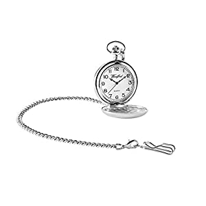 Woodford Men's Quartz Pocket Watch with White Dial Analogue Display 1932