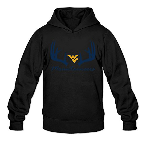 - Tjame Men's Smallwood 4 West Virginia Mountaineers Hooded Sweatshirt Black