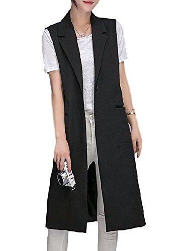 [Nana_Collection(ナナコレクション)] 秋 女性 きれいめ シンプル ノースリーブ ジャケット ロング ベスト