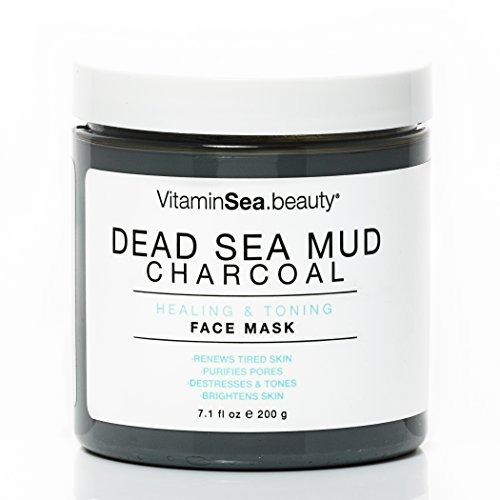 VitaminSEA.Beauty Dead Sea Mud Charcoal Healing and Toning Face Mask