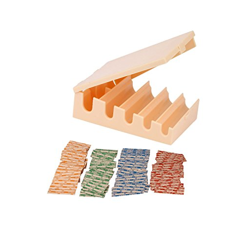 Coin Changers Tray Bundle of 100 Assorted Wrappers with 1 Compact Coin Sorter & Counter Organizer.