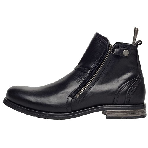 Sneaky Steve Womens Heron Leather Boots Black Magic