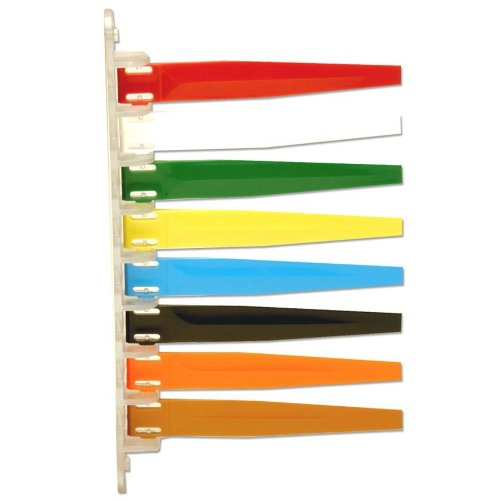 Unimed-midwest Inc I8pf169438 Room Status Flags 8-flag Primary Red, White, Green, Yellow, Blue, Black, Orange, Brown (Each)