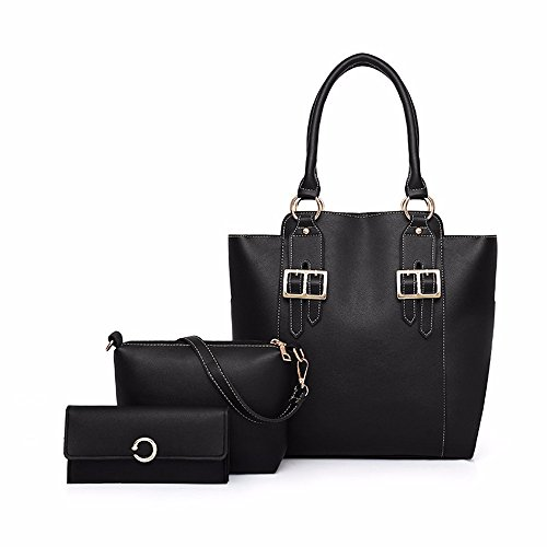 nero Retro Skew Borsa Skew Moda Three Pieces Sleeve Single da Marrone donna of Borse da donna rYwnZq4YU