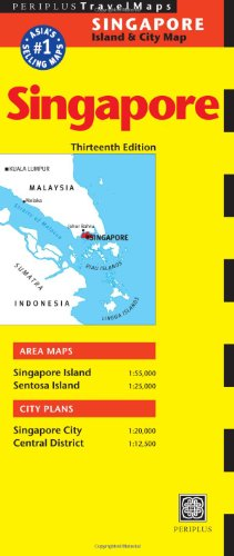 Singapore Travel Map Thirteenth Edition (Periplus Travel Maps: Singapore Island & City Map)