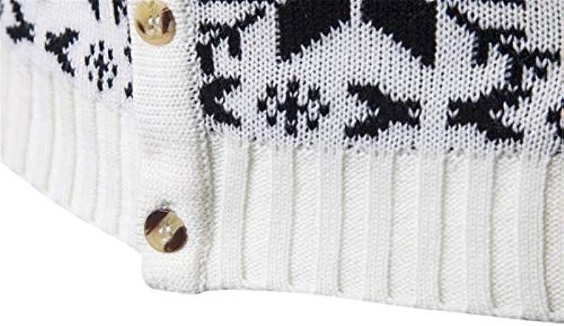 Dishfeilt Męskie Cardigan aus Baumwolle mit V-Ausschnitt Christmans Patchwork Slim Fit Kleidung Gestrickt Casual Coat Pull Homme: Odzież