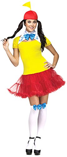 Fun World Costumes Women's Tweedle Dee Dum Adult Costume, Yellow/Red, -