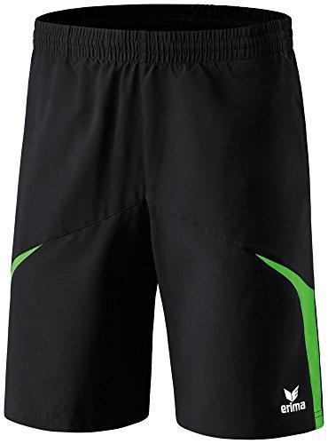 erima Kinder Shorts Razor 2.0, Schwarz/Green, 140, 109609