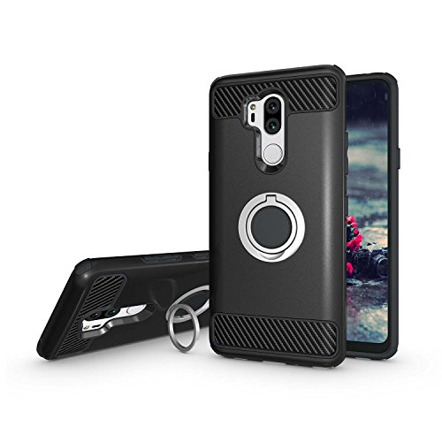 - Newseego Compatible LG G7 ThinQ Case, LG G7 Case with Armor Dual Layer 2 in 1 with Extreme Heavy Duty Protection and Finger Ring Holder Kickstand Fit Magnetic Car Mount for LG G7 ThinQ -Black