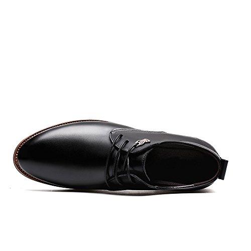 bodas de formal para 2018 encaje hombre zapatos de formales hombre con negocios piel casual Negro Zapatos clásicos Oxfords de SSqw5OU