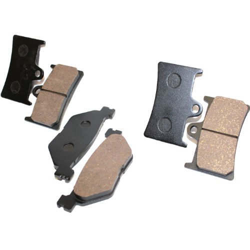 Caltric FRONT REAR BRAKE Pads Fits YAMAHA XV1700 XV 1700 ROAD STAR WARRIOR 2002-2007 FRONT REAR Pads (2005 Yamaha Road Star)
