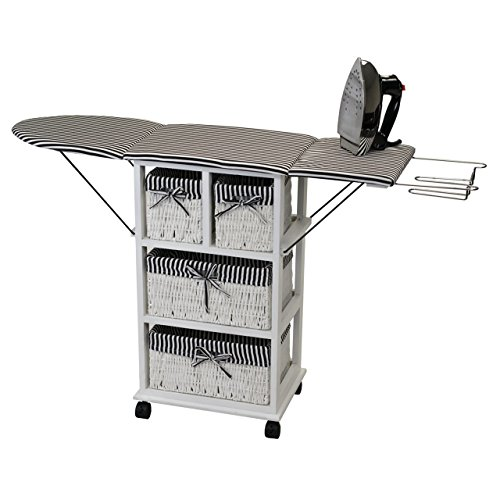 Rolling Ironing Board Station - Home Storage Unit by MaxiAids