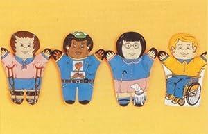 Dexter Educational Toys DEX830M Special Needs 4 Piece Puppet Set - Multicultural by DEXTER EDUCATIONAL TOYS