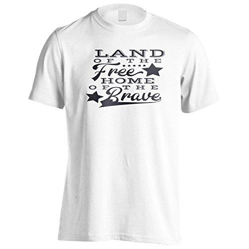 Land Der Freien Heimat Des Tapferen Schwarzen Herren T-Shirt n103m