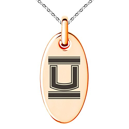 Stainless Steel Love U Pendant Necklace (Gold Plated) - 3