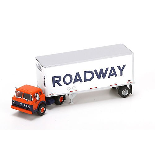 Athearn ATH91034 HO RTR Ford C w/28' Smooth Trailer, Roadway