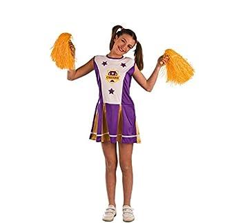 El Rey del Carnaval Disfraz de Animadora Morada para niña: Amazon ...