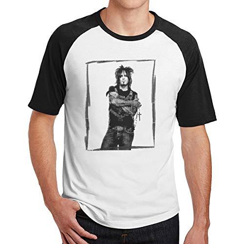 Nikki-Sixx-Poster T Shirt Raglan Short Sleeve Baseball T-Shirt Adult Casual Wear ()