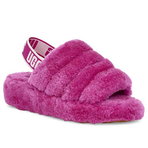 UGG Women's Fluff Yeah Slide Wedge Sandal, Fuchsia, for sale  Delivered anywhere in USA