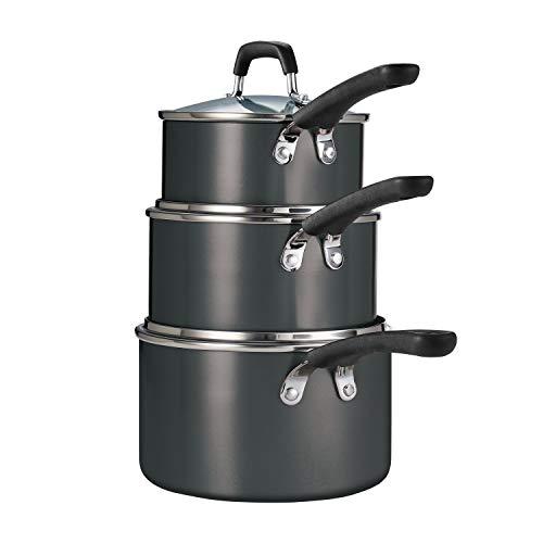 Tramontina 6 Pc Aluminum Stackable Sauce Pan Set (Metallic Gray)