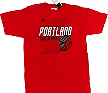 Adidas Portland Trail Blazers Manga Corta Camiseta Rojo Talla L: Amazon.es: Deportes y aire libre