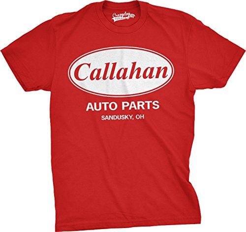 Mens Callahan Auto T Shirt Funny Shirts Cool Humor Tees Sarcasm (Red) M