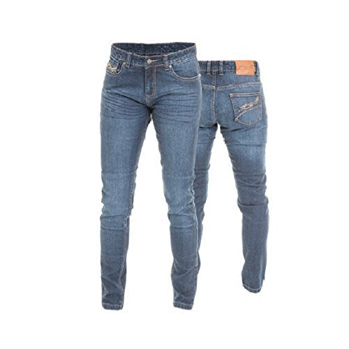 RST 2221 Aramid Straight Ladies Motorcycle Jeans - Blue (Short Leg) 14 L
