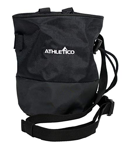 Athletico Chalk Bag for Rock Climbing - Rock Climbing Chalk Bag with Quick-Clip Waist Belt - for Weighlifting Chalk, Gym Chalkm & Lifting Chalk