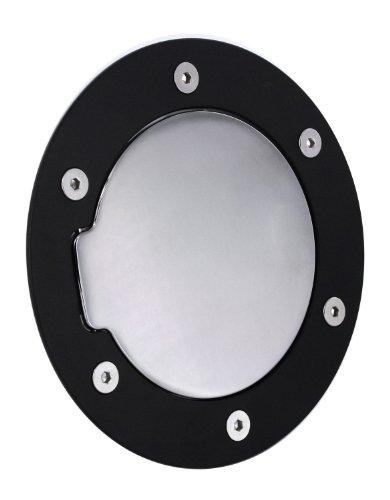 - All Sales 6040KC Black Ring with Chrome Billet Aluminum Fuel Door