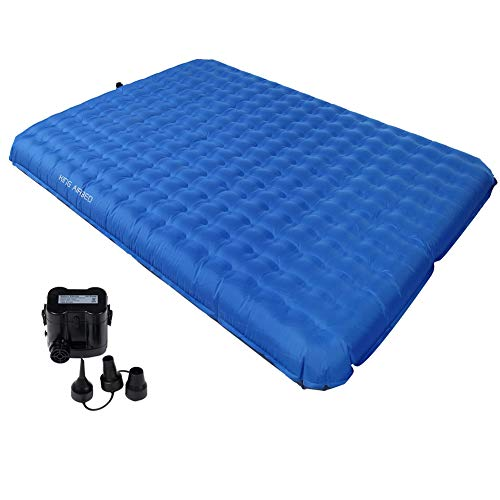 KingCamp 2 Person Air Mattress, PVC-Free Inflatable Comfortable Damp-Proof Sleeping Pad with Pump for Home and Camping