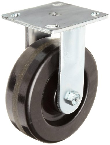 E.R. Wagner Plate Caster, Rigid, Polyurethane on Aluminum Wheel, Roller Bearing, 700 lbs Capacity, 4'' Wheel Dia, 2'' Wheel Width, 5-5/8'' Mount Height, 4-1/2'' Plate Length, 4'' Plate Width by ER Wagner