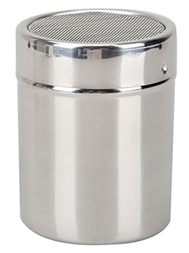 RoseSummer Stainless Chocolate Shaker Icing Sugar Salt Cocoa Flour Coffee Sifter (Silver Sifter)