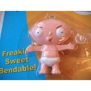 (Family Guy Stewie Bendy Figure with Suction Cup Hanger )