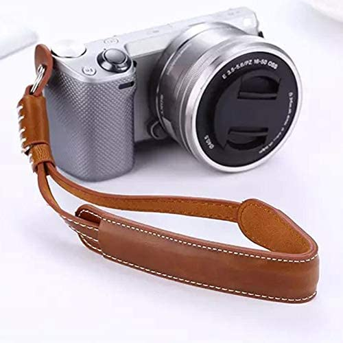 Fasmodel Camera Wrist Hand Strap Vintage PU Leather Soft Durable For DSLR//SLR Camera